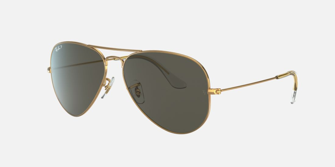 ray ban gold aviator polarized