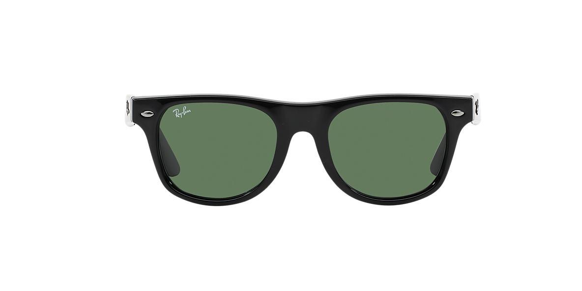 RAY-BAN CHILDRENS Black RJ9035S Green lenses 44mm
