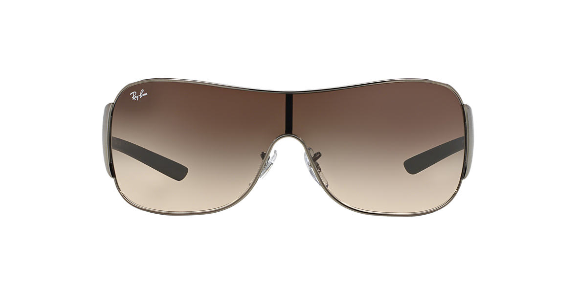 RAY-BAN Silver RB3321 Brown lenses 33mm