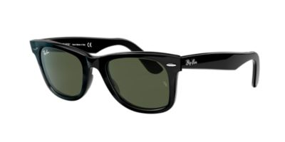 ray ban 54mm wayfarer  Ray-Ban RB2140 54 ORIGINAL WAYFARER 54 Green \u0026 Black Sunglasses ...