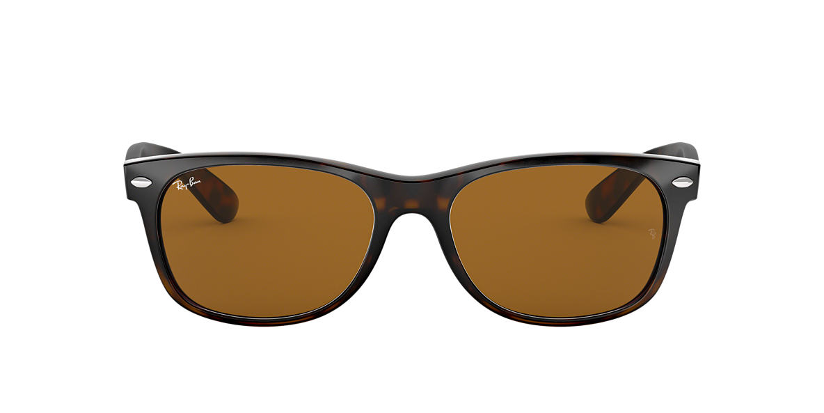 RAY-BAN Tortoise RB2132 55 NEW WAYFARER Brown lenses 55mm