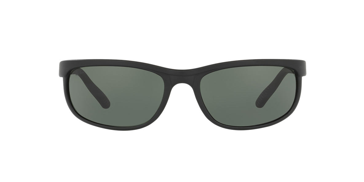 RAY-BAN Black Matte RB2027 62 PREDATOR 2 Green lenses 62mm