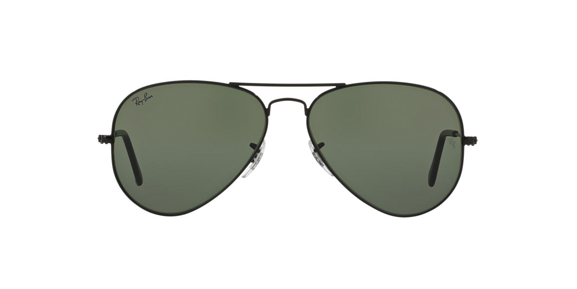 RAY-BAN Black RB3025 58 ORIGINAL AVIATOR Grey lenses 58mm