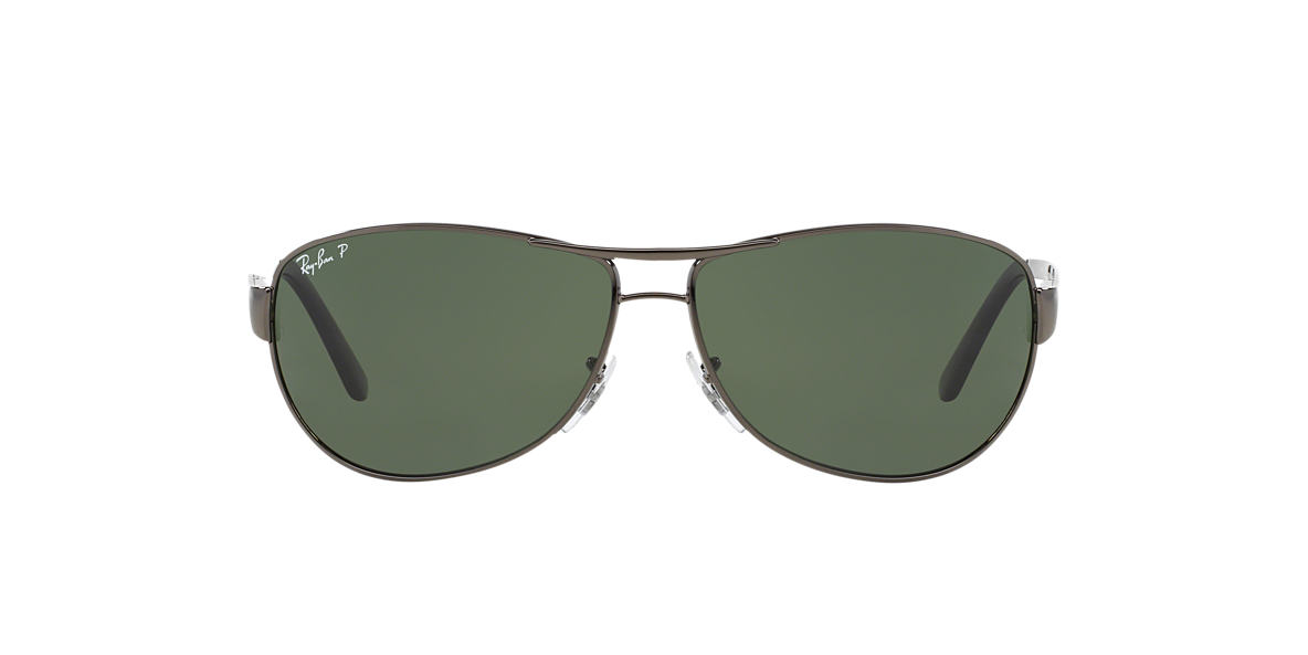 RAY-BAN Gunmetal RB3342 60 WARRIOR Green polarized lenses 60mm