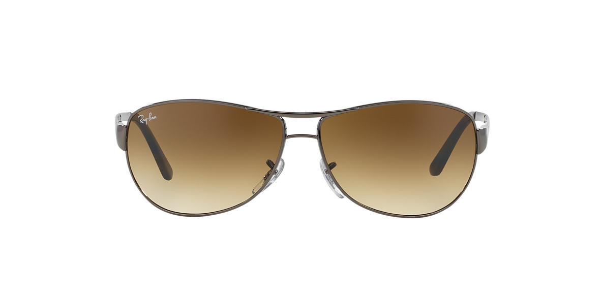 RAY-BAN Gunmetal RB3342 60 WARRIOR Brown lenses 60mm