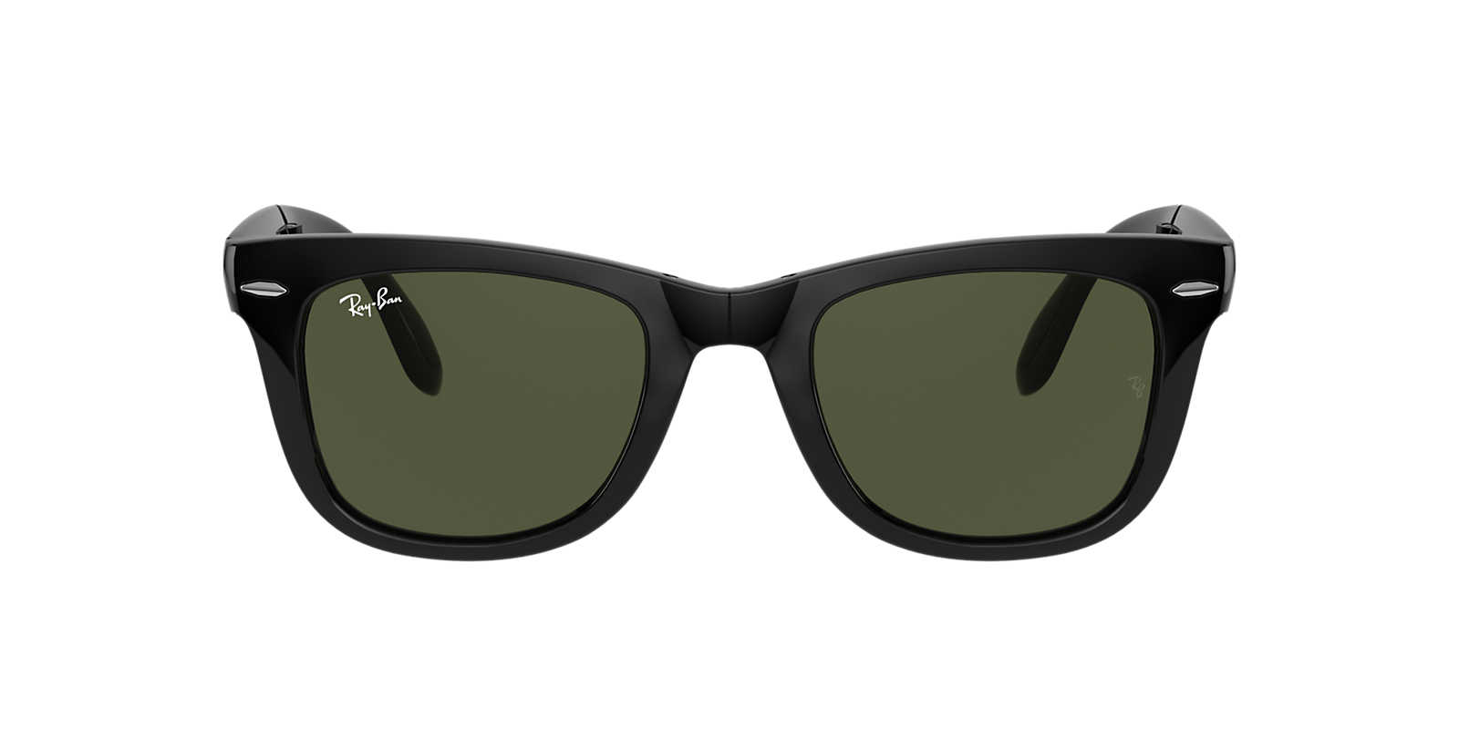 fake folding wayfarer  Ray-Ban RB4105 50 FOLDING WAYFARER 50 Green \u0026 Black Sunglasses ...