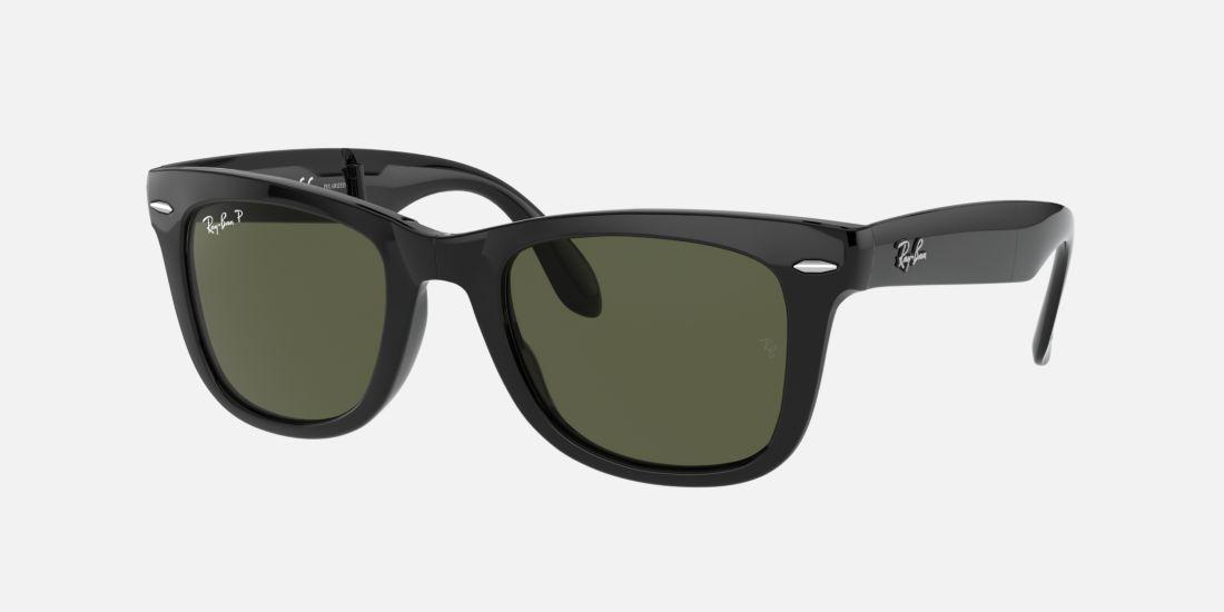 How Do I Know What Glasses Frame Size I Am : Ray-Ban RB4105 50 FOLDING WAYFARER 50 Green & Black ...