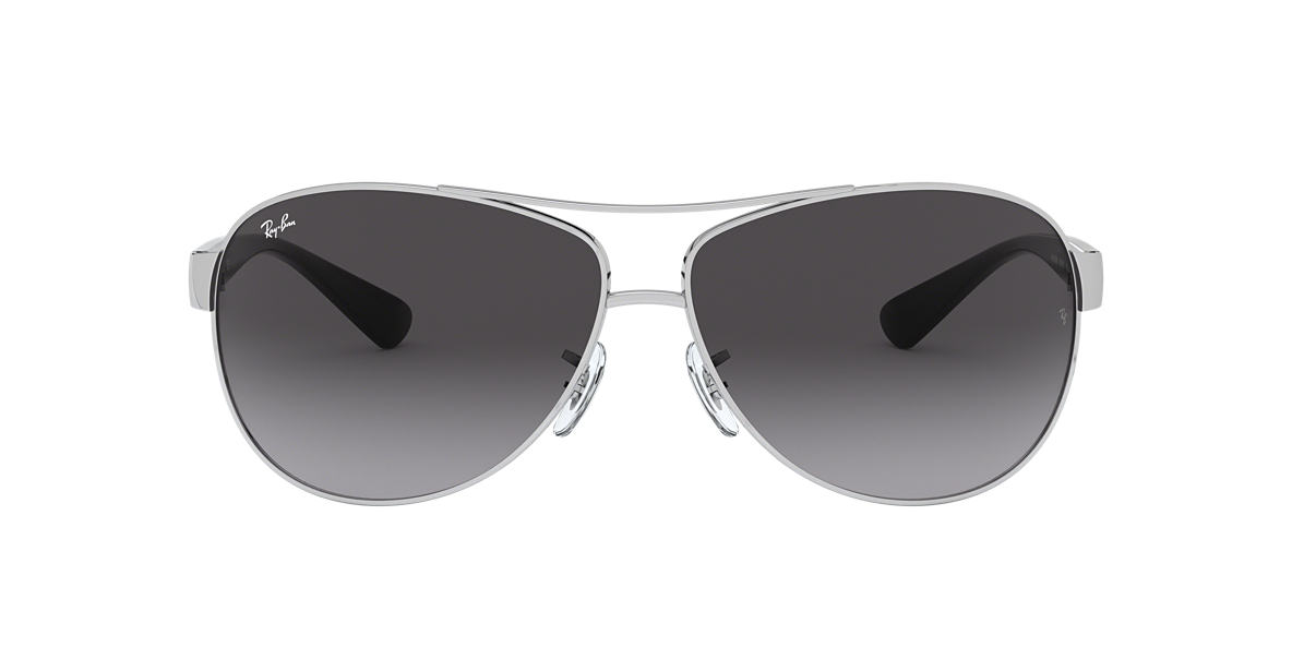 RAY-BAN Silver RB3386 67 Grey lenses 67mm