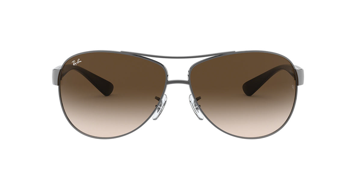 RAY-BAN Gunmetal RB3386 63 Brown lenses 63mm
