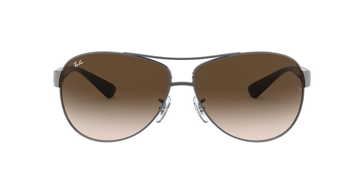 ray ban aviators sunglass hut uk  ray ban rb3386 67 67 brown & gunmetal sunglasses