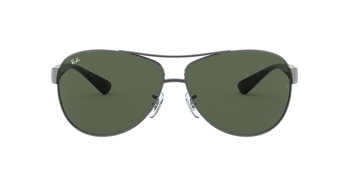 RAY-BAN Gunmetal RB3386 63 Green lenses 63mm
