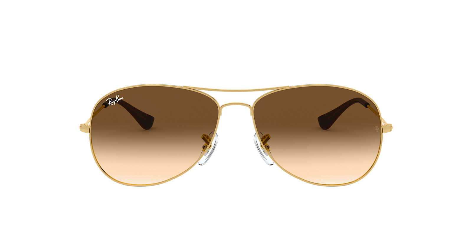 ray ban gold  Ray-Ban RB3362 59 COCKPIT 59 Brown \u0026 Gold Sunglasses