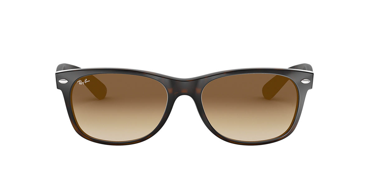 RAY-BAN Tortoise RB2132 52 NEW WAYFARER Brown lenses 52mm