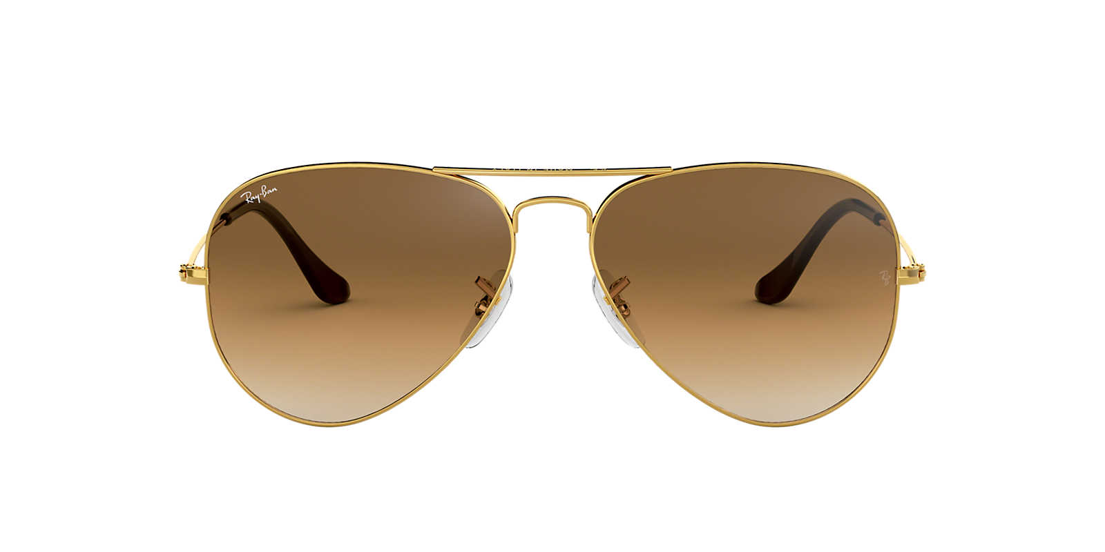 RAY-BAN Gold Shiny RB3025 58 ORIGINAL AVIATOR Brown lenses 58mm