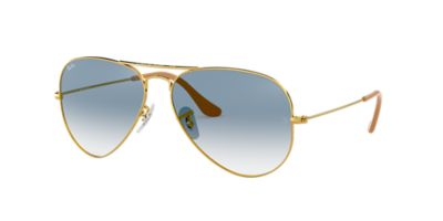 aviator blue  Ray-Ban RB3025 58 ORIGINAL AVIATOR 58 Blue \u0026 Gold Sunglasses ...