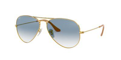 aviator blue  Ray-Ban RB3025 58 ORIGINAL AVIATOR 58 Blue \u0026 Gold Sunglasses ...