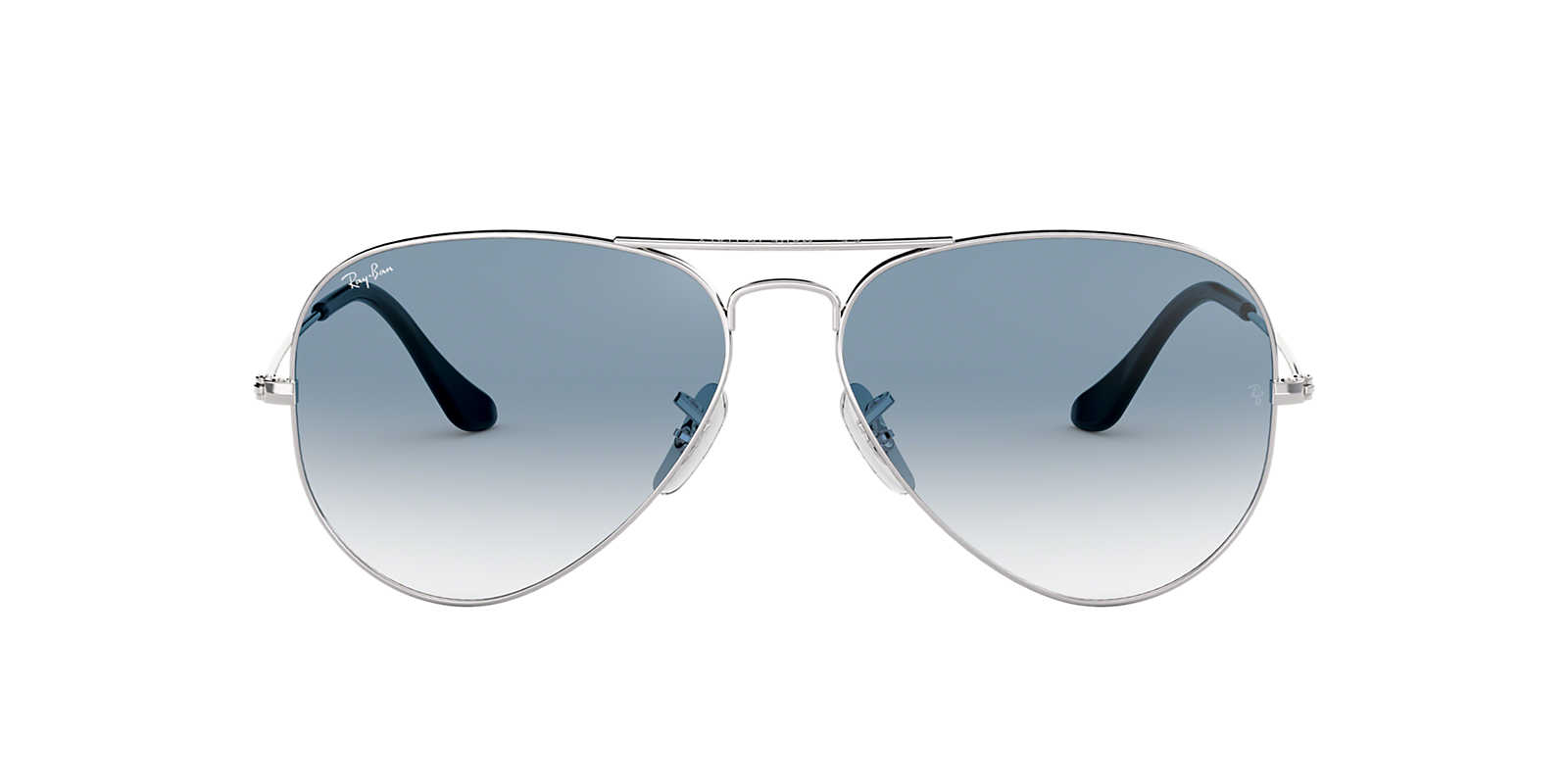 ray ban aviator silver  ray ban silver rb3025 55 original aviator blue lenses 55mm