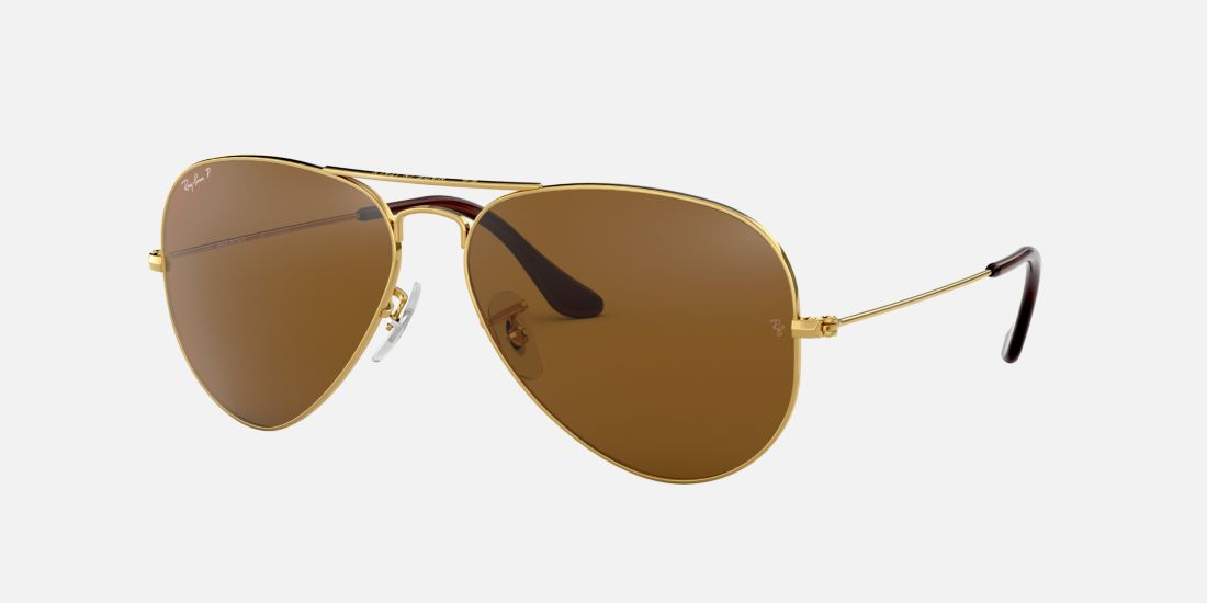 rb3025 58 aviator gold brown polarized