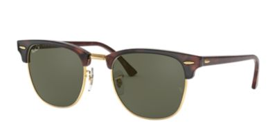 ray ban clubmaster matte  Ray-Ban RB3016 49 CLUBMASTER 49 Green \u0026 Tortoise Polarized ...