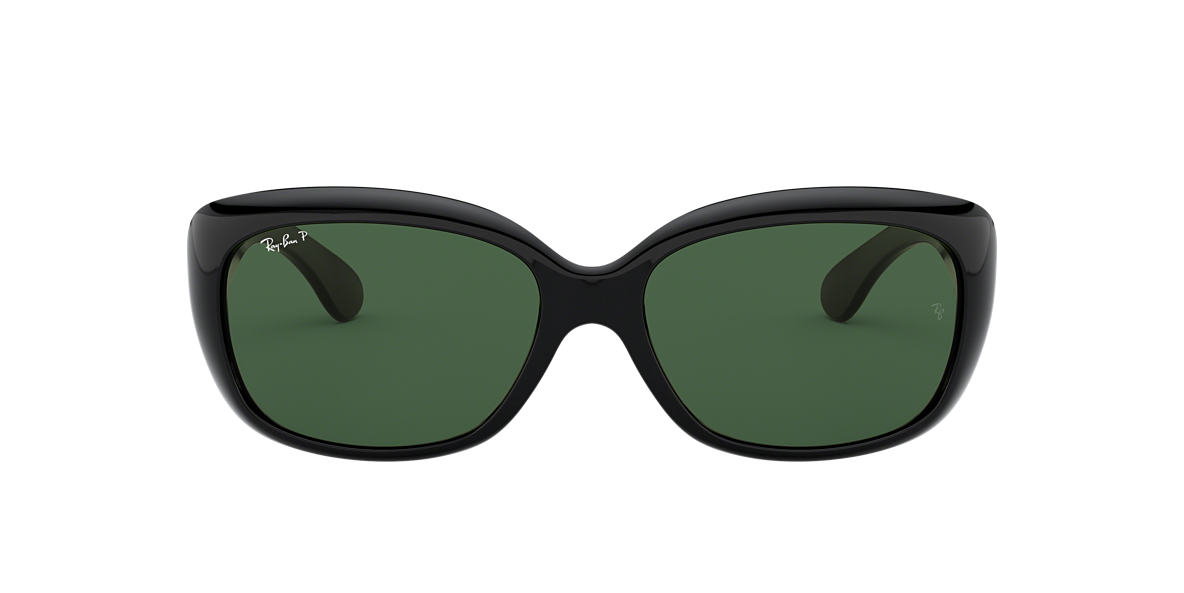RAY-BAN Black RB4101 58 JACKIE OHH Green polarized lenses 58mm