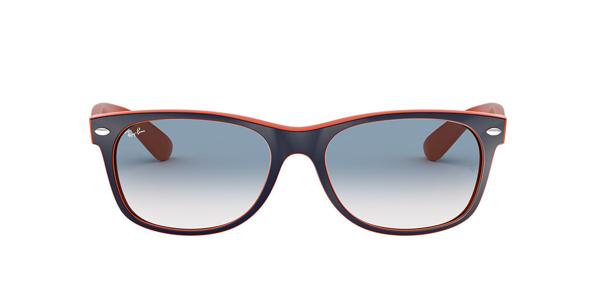 RAY-BAN Orange RB2132 52 NEW WAYFARER Blue lenses 52mm
