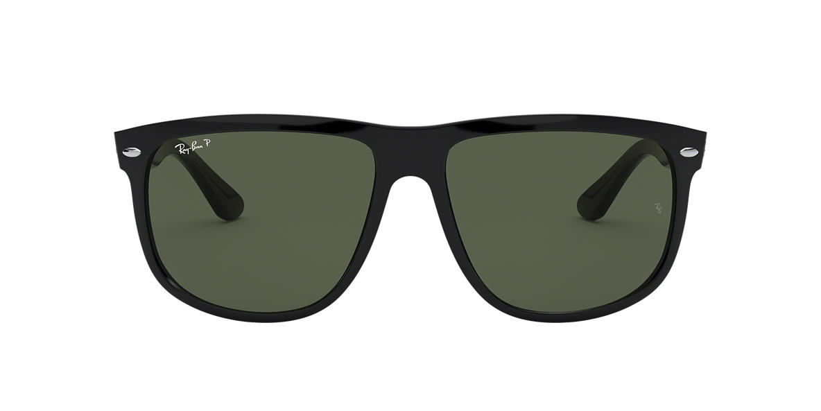 RAY-BAN Black Shiny RB4147 60 Grey polarized lenses 60mm