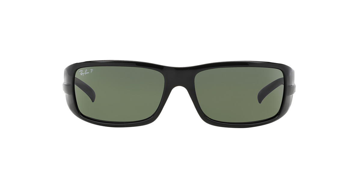 RAY-BAN Black RB4057 61 Green polarized lenses 61mm