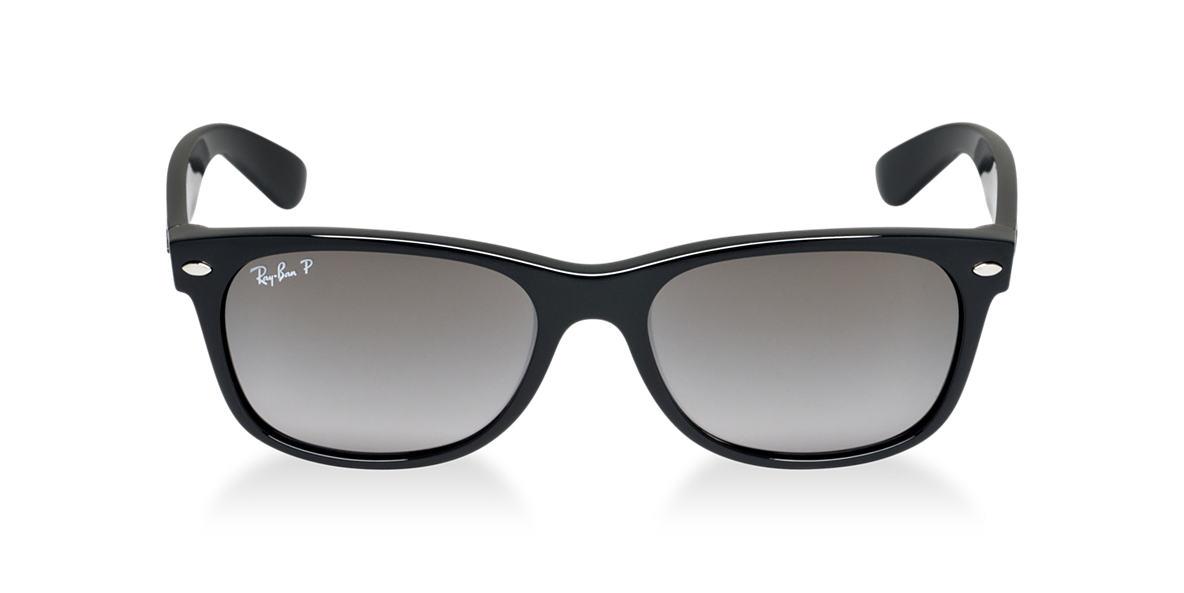 RAY-BAN Black Matte RB2132 55 NEW WAYFARER Grey polarized lenses 55mm