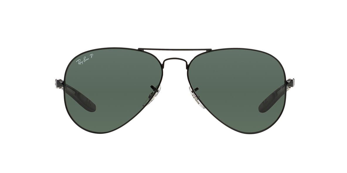 RAY-BAN Black RB8307 Green polarised lenses 58mm
