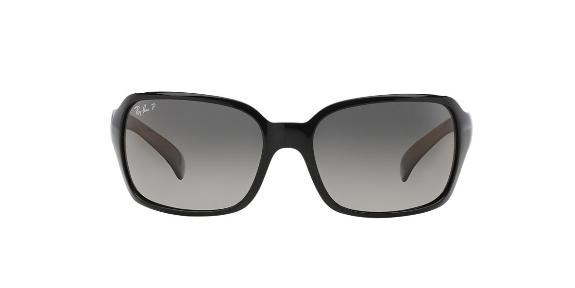 RAY-BAN Black RB4068 60 Grey polarized lenses 60mm