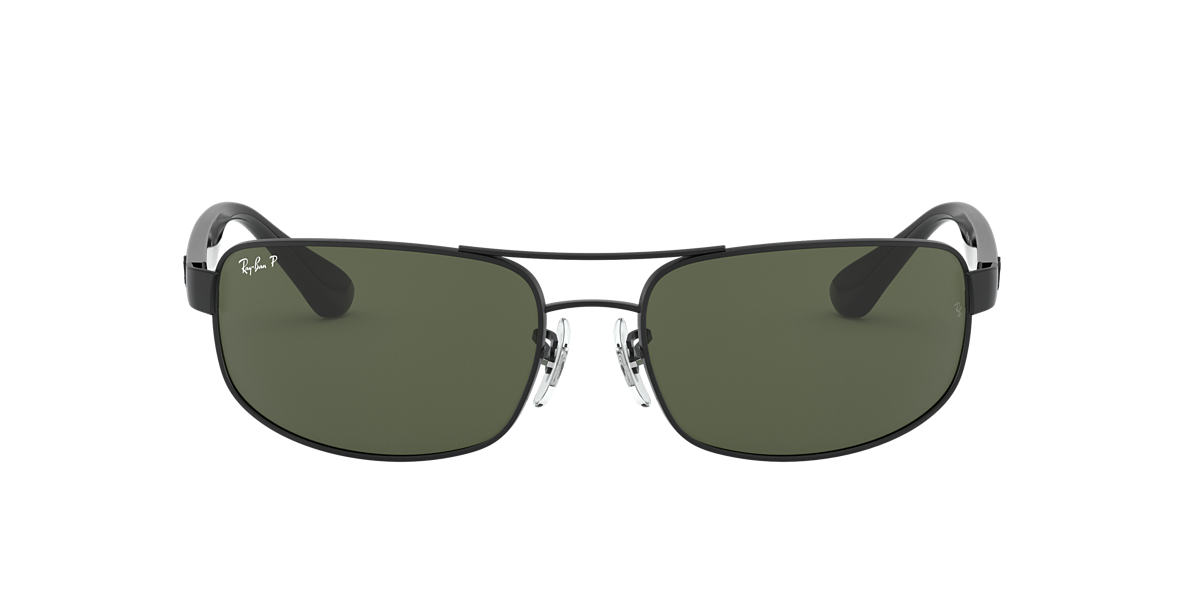 RAY-BAN Black RB3445 61 Green polarized lenses 61mm