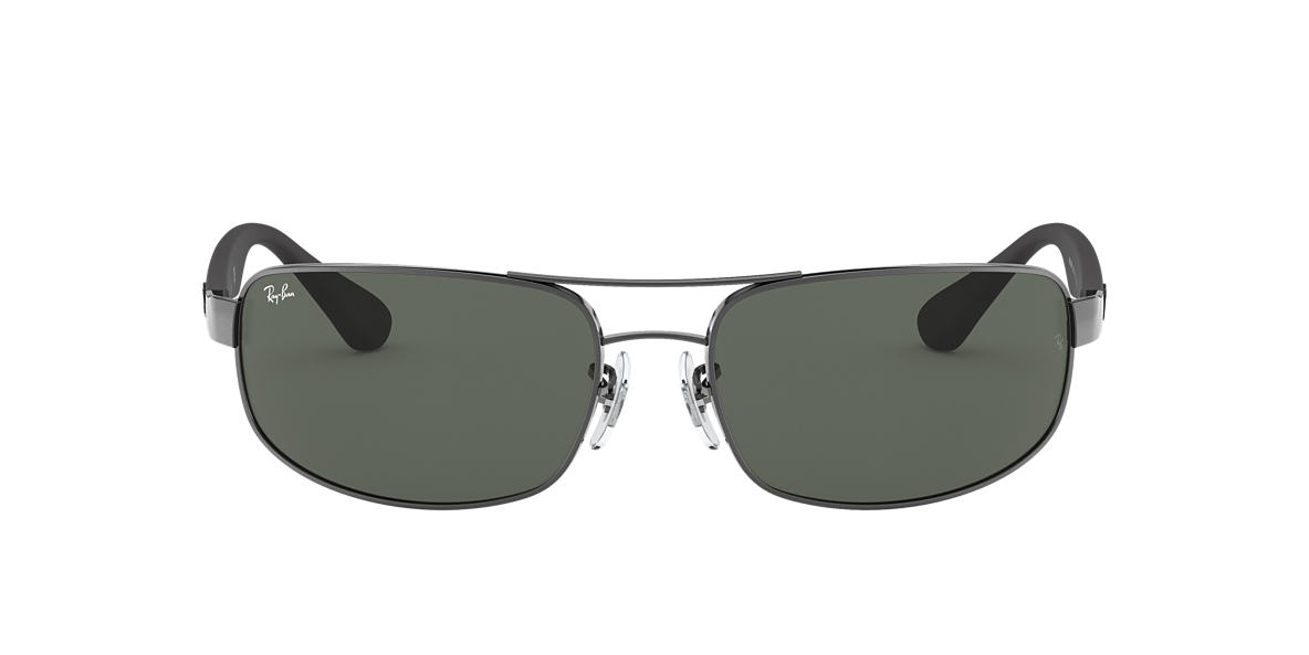 RAY-BAN Silver RB3445 Green lenses 61mm