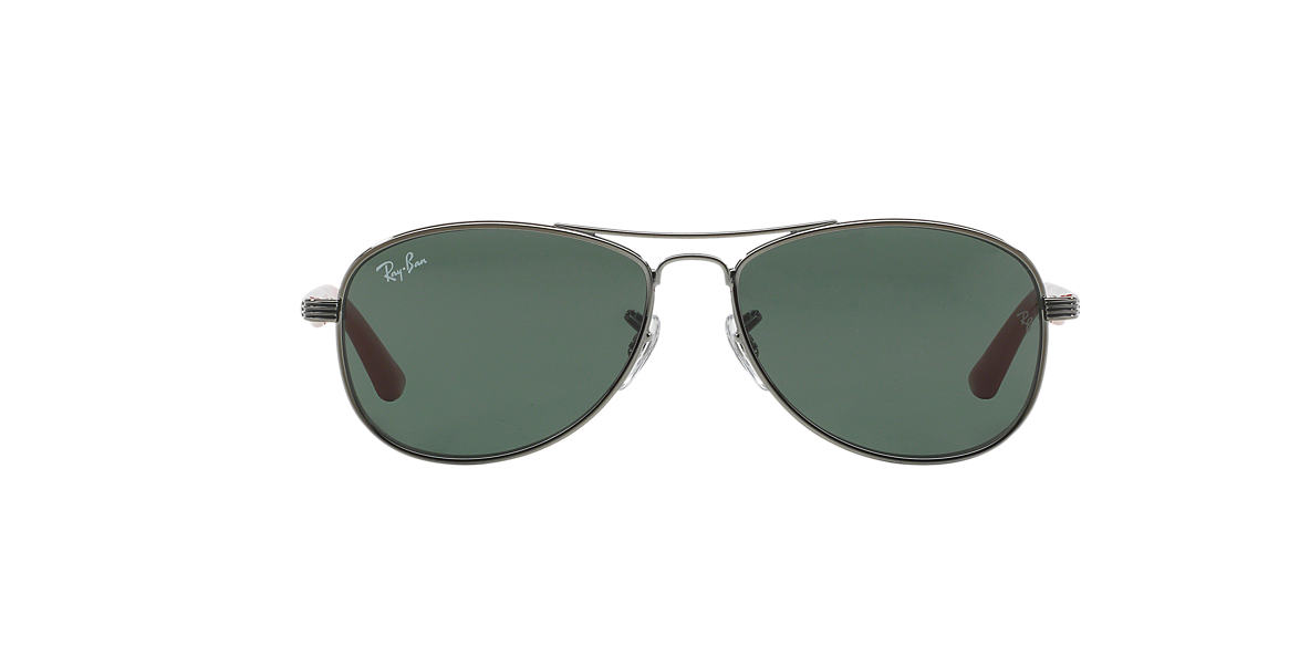 RAY-BAN CHILDRENS Gunmetal RJ9529 Green lenses 50mm