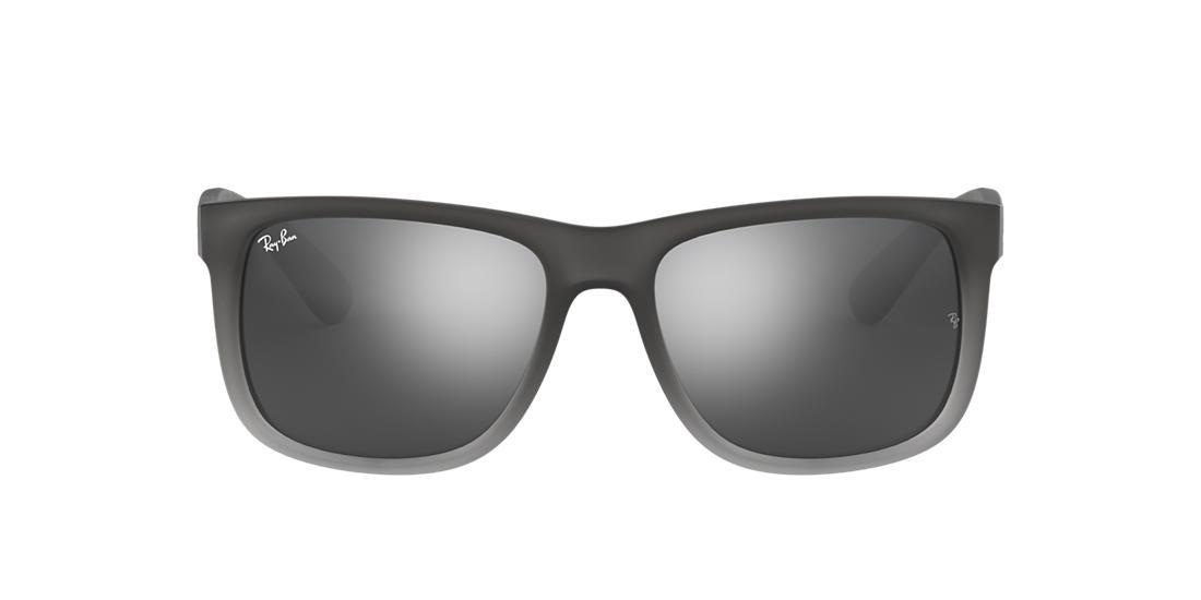 Ray-Ban RB4165 54 JUSTIN 55 Silver & Grey Sunglasses