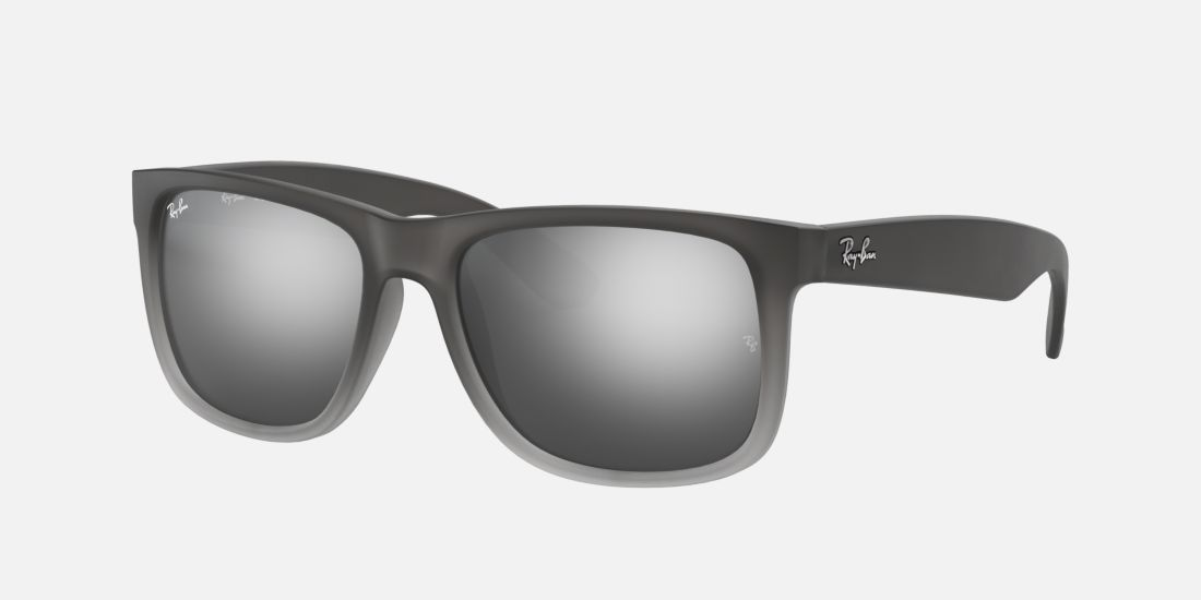 Ray Ban Rb4165 54 Justin 55 Silver Amp Grey Sunglasses