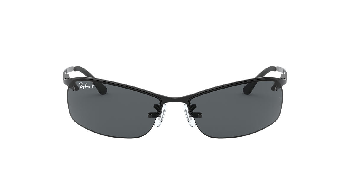 RAY-BAN Black RB3183 63 Grey polarized lenses 63mm