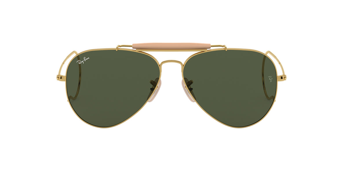 RAY-BAN Gold Shiny RB3030 Green lenses 58mm