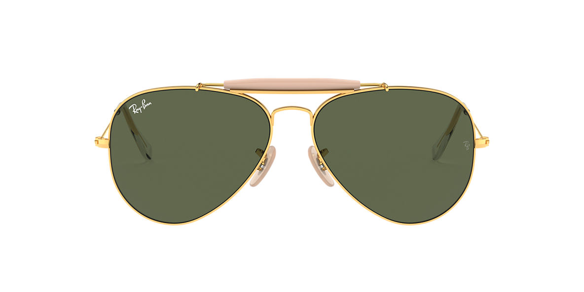 RAY-BAN Gold RB3029 Green lenses 62mm