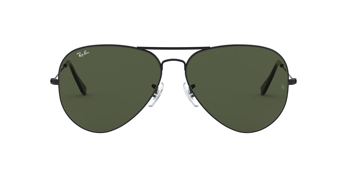 RAY-BAN Black RB3026 Green lenses 62mm