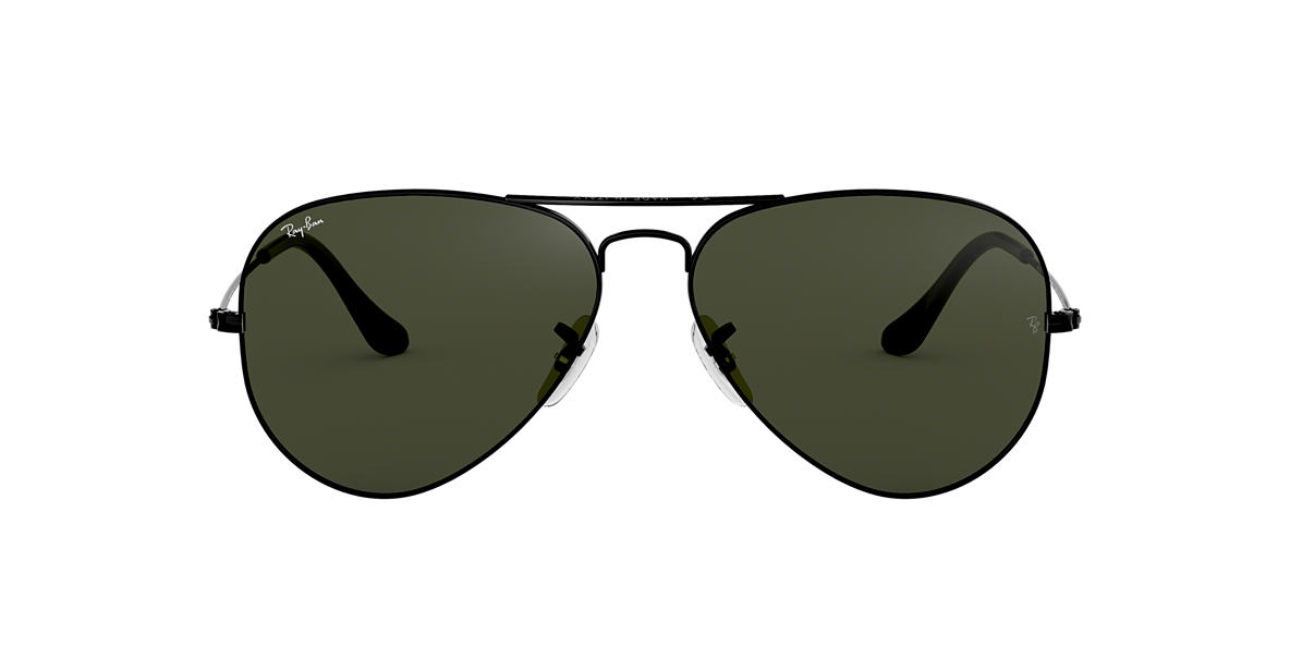 ray ban glass logo  ray ban black rb3025 58 original aviator grey lenses 58mm