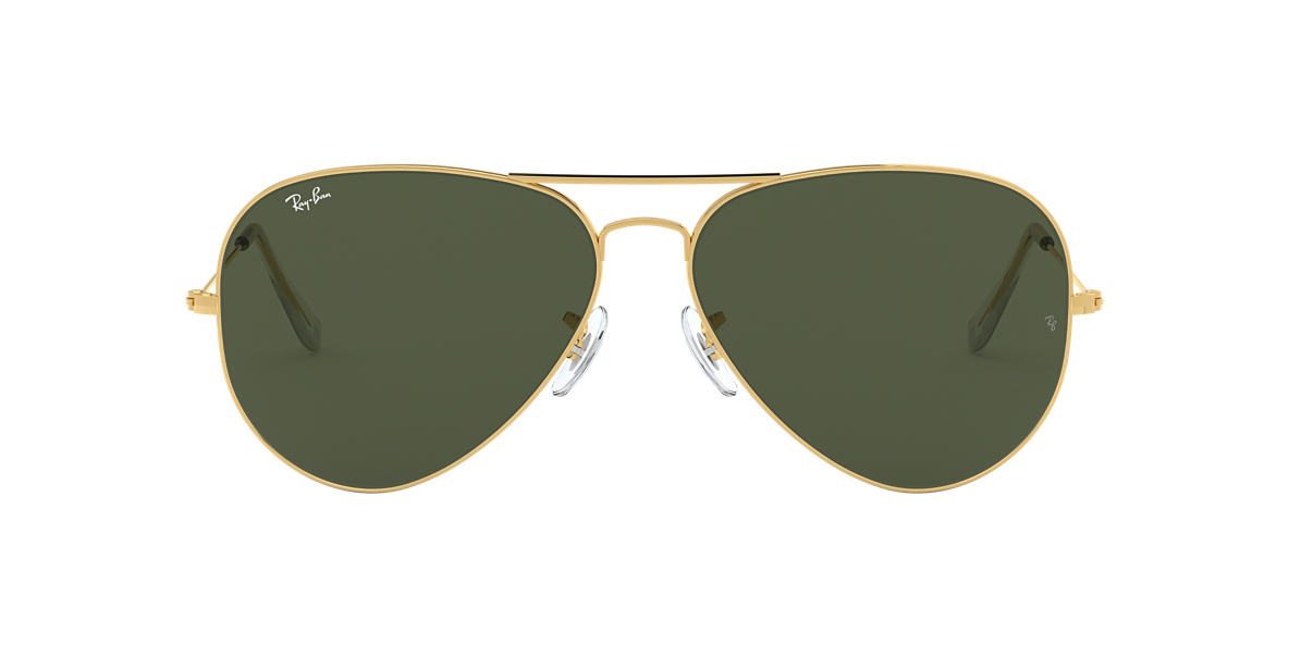 RAY-BAN Gold Shiny RB3026 62 AVIATOR II LARGE Green lenses 62mm