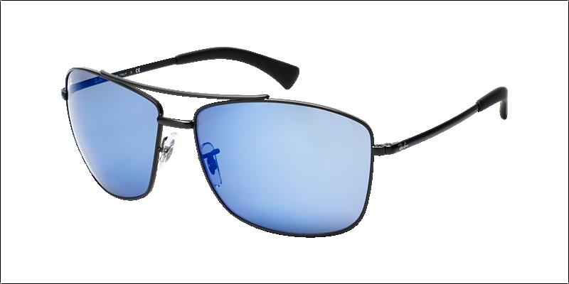 50f2c6111c Ray Ban Sunglasses RB3476 - 006 55 Matte Black Blue Mirror Lens - 63mm