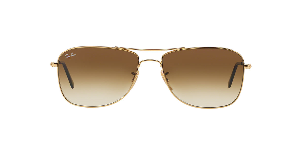 RAY-BAN Gold RB3477 59 Brown lenses 59mm
