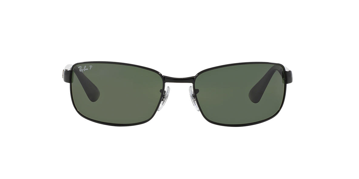 RAY-BAN Black RB3478 63 Green polarized lenses 63mm