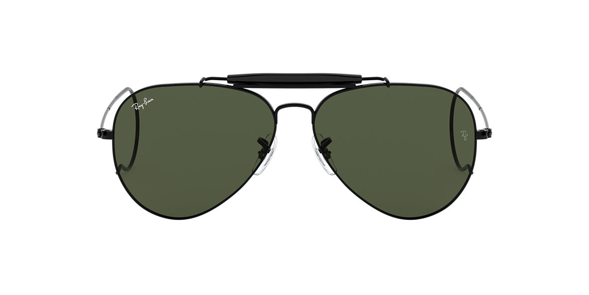 RAY-BAN Black RB3030 Green lenses 58mm