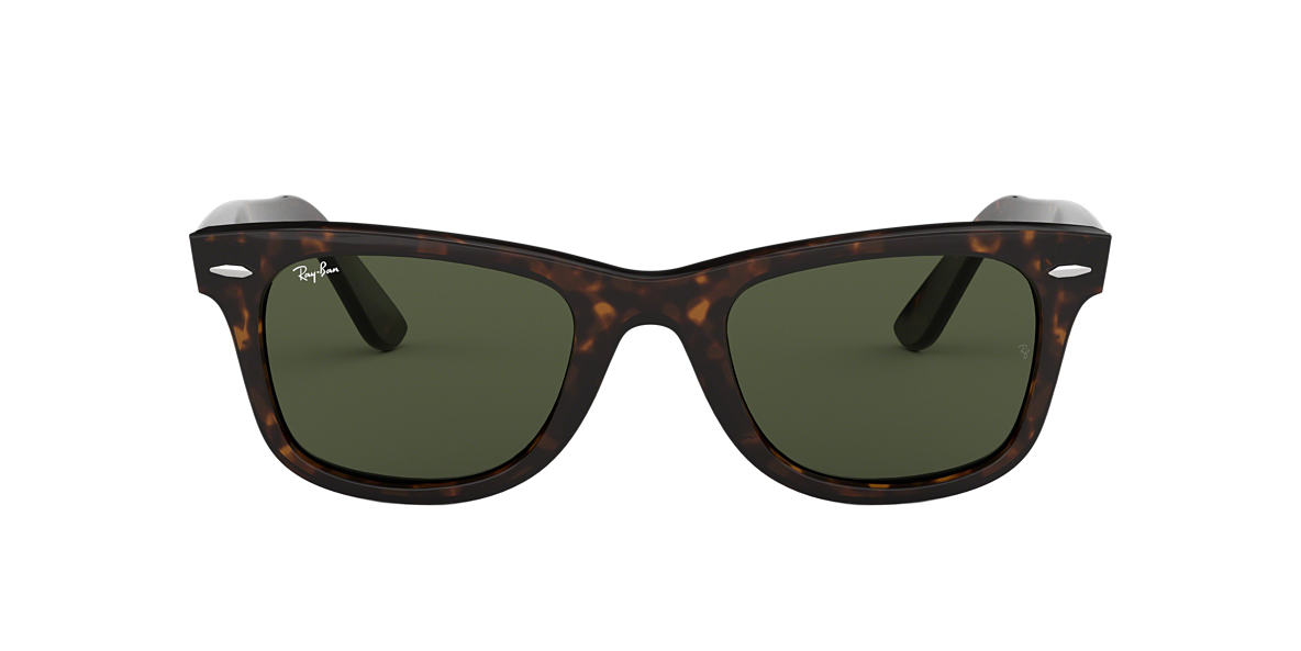 RAY-BAN Tortoise RB2140F Green lenses 54mm