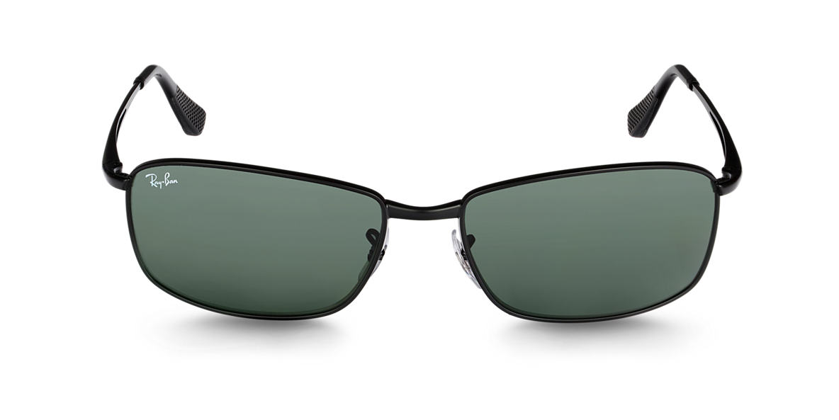 RAY-BAN Black RB3501 Green lenses 61mm