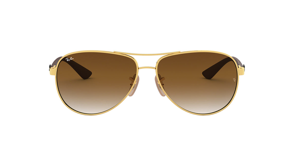 RAY-BAN Gold RB8313 61 CARBON FIBRE Brown lenses 61mm
