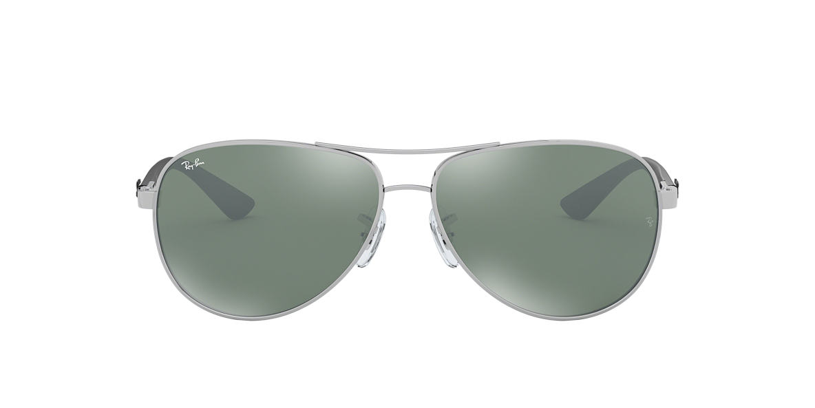RAY-BAN Silver RB8313 61 CARBON FIBRE Silver lenses 61mm