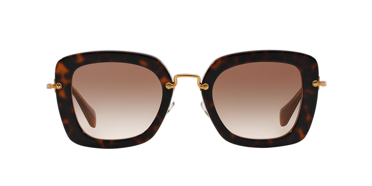 MIU MIU Brown MU 07OS Brown lenses 52mm